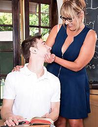 Curvy mature teacher rocks young cock - part 2369