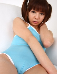 Ponytailed Japanese Mummy Hikaru Aoyama secretly displays her mouth-to-mouth cunt