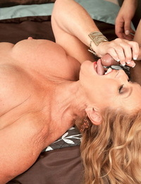Hot mature girl munches her toy gaze shaft after he screws her nasty cunt
