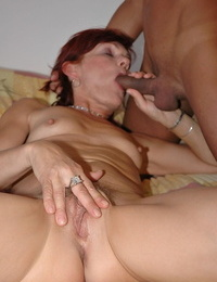 Nasty granny Agatha calls young doctor to knuckle and fuck her wet cunt
