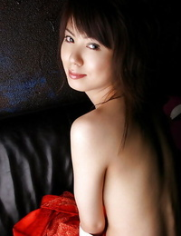 Lusty asian babe with hairy vagina unveiling her tiny curves