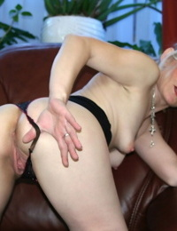 Nasty light-haired granny buxom big cock and getting pounded before molten facial