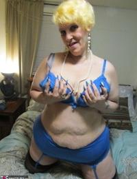 Huge nan Bunny Gram smokes in her pretties before pleasuring a hard-on POV style