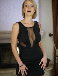 Russian Mummy Elen Million gets a glass dildo in her culo and then a real cock